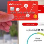 cartão Santander com limite de R$ 10 mil